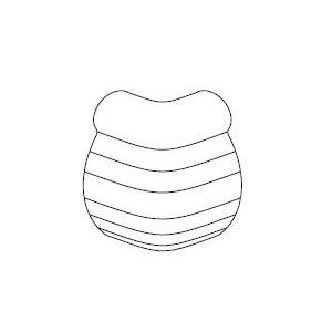 Angle externe 90° en PVC antibactérien avec joints bactéricides