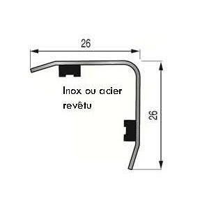 Cornière Adhésive 25x25mm Acier revêtu PVC Blanc