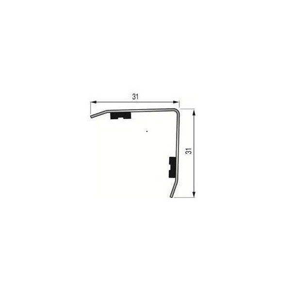 Cornière Adhésive 30x30mm INOX Brossé 304