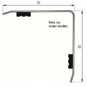 Cornière Adhésive 50x50mm Acier revêtu PVC Blanc