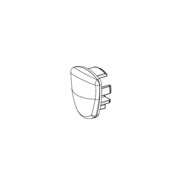 Bouchon plat en PVC avec joint bactéricide