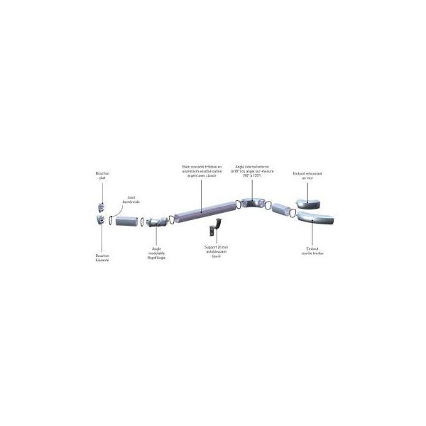 Main courante trilobée LINEA TOUCH + anodisée