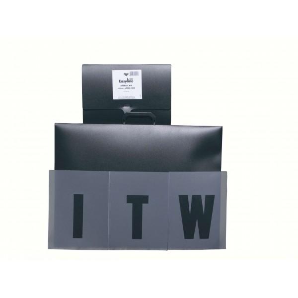 pochoir lettres et chiffres 15cm. Black Bedroom Furniture Sets. Home Design Ideas