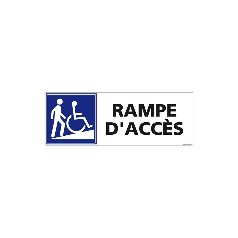 Signal tique handicap for Rampe d acces handicape