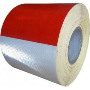 Bande autocollante réfléchissante rouge-blanc